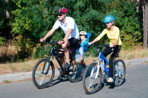 Fahrradausflug mit Kinderfahrradsitz